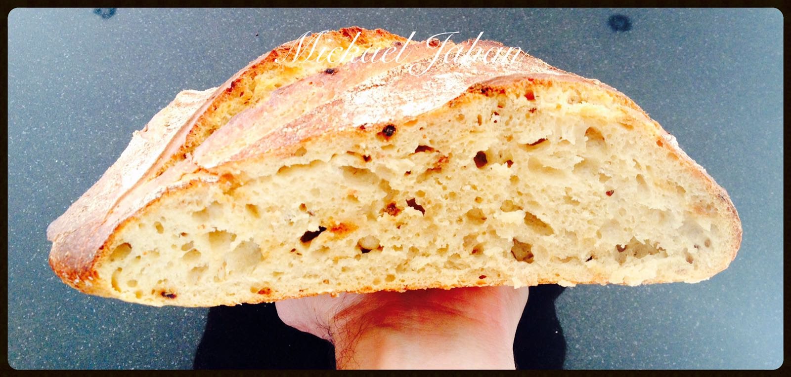 Under-mixed bread to preserve all the flavour from this fantastic flour